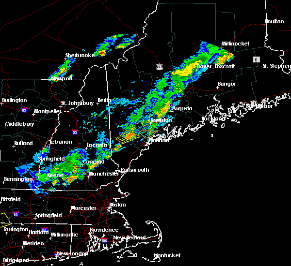 Radar Image for Severe Thunderstorms near Gray, ME at 7/27/2018 6:11 PM EDT