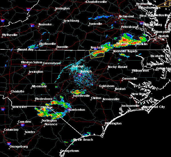 Radar Image for Severe Thunderstorms near Warrenton, NC at 7/27/2018 7:05 PM EDT