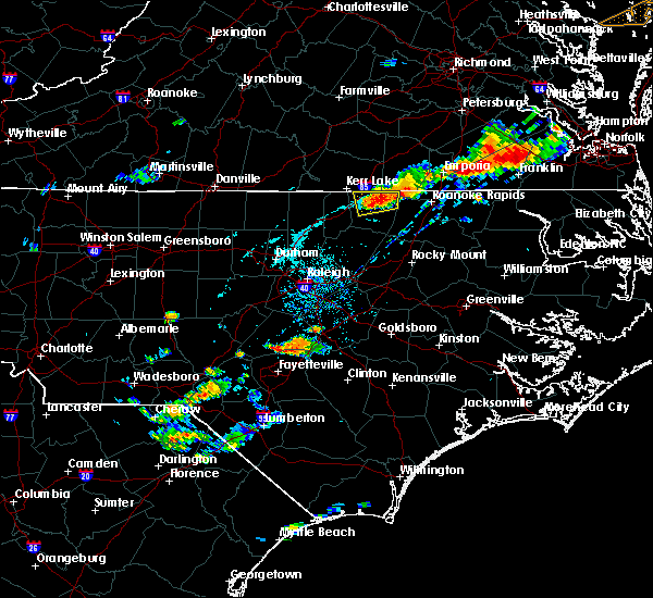 Radar Image for Severe Thunderstorms near Warrenton, NC at 7/27/2018 7:20 PM EDT