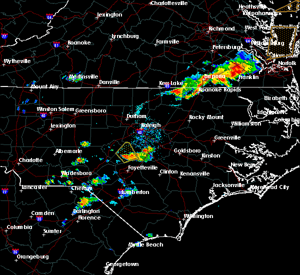 Radar Image for Severe Thunderstorms near Mamers, NC at 7/27/2018 7:49 PM EDT