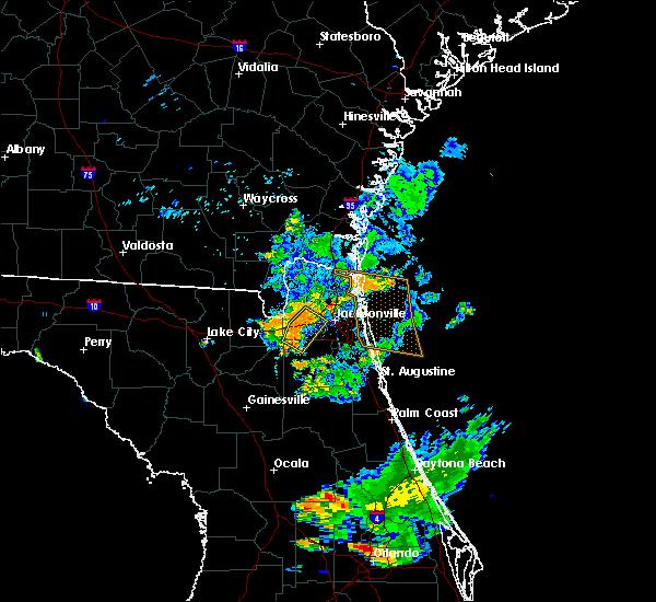 Radar Image for Severe Thunderstorms near Jacksonville, FL at 7/27/2018 8:25 PM EDT