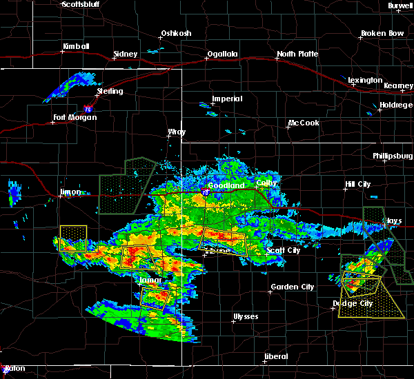 Radar Image for Severe Thunderstorms near Marienthal, KS at 7/27/2018 8:13 PM CDT
