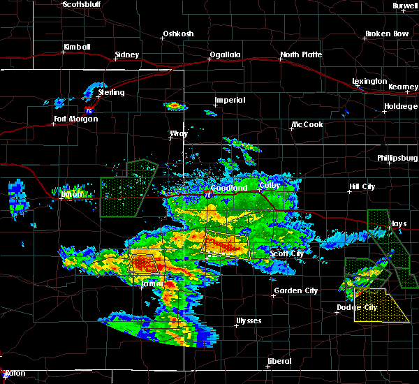 Radar Image for Severe Thunderstorms near Marienthal, KS at 7/27/2018 8:31 PM CDT