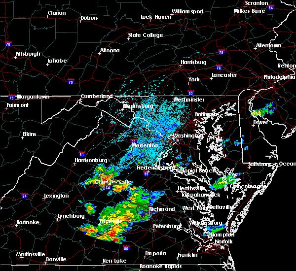 Radar Image for Severe Thunderstorms near Gordonsville, VA at 7/28/2018 1:10 AM EDT