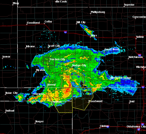 Radar Image for Severe Thunderstorms near Woodward, OK at 7/28/2018 12:13 AM CDT