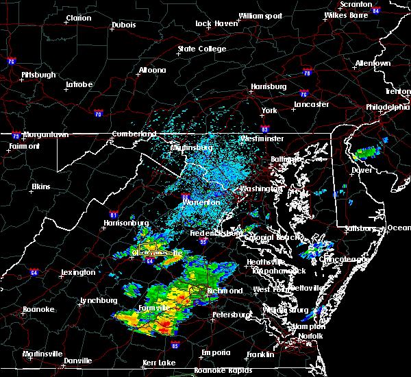 Radar Image for Severe Thunderstorms near Ruckersville, VA at 7/28/2018 1:28 AM EDT