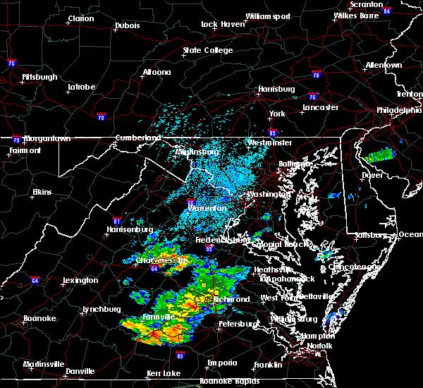 Radar Image for Severe Thunderstorms near Gordonsville, VA at 7/28/2018 1:39 AM EDT
