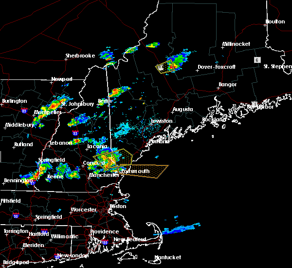 Radar Image for Severe Thunderstorms near West Kennebunk, ME at 7/28/2018 6:03 PM EDT