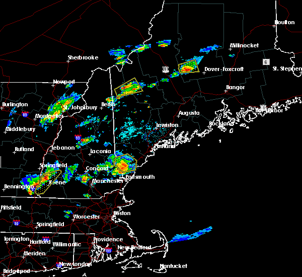 Radar Image for Severe Thunderstorms near West Kennebunk, ME at 7/28/2018 6:22 PM EDT