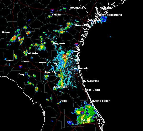 Radar Image for Severe Thunderstorms near Homeland, GA at 7/28/2018 6:40 PM EDT