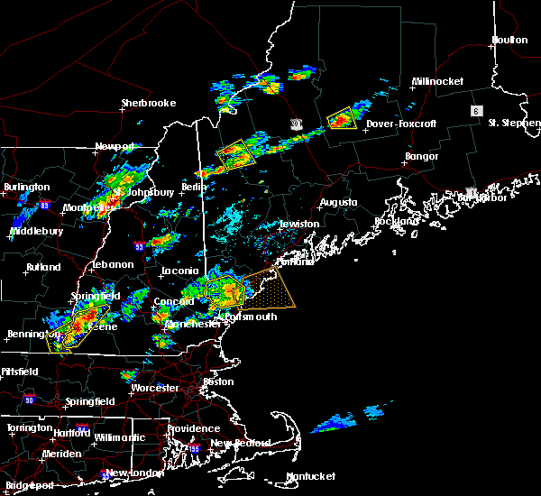 Radar Image for Severe Thunderstorms near West Kennebunk, ME at 7/28/2018 6:40 PM EDT