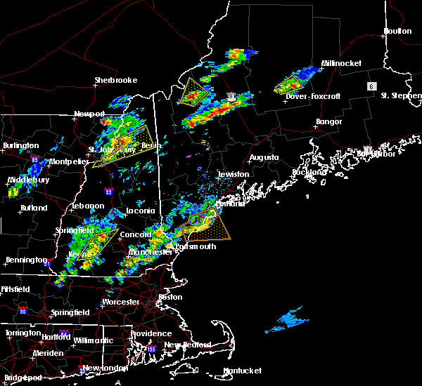 Radar Image for Severe Thunderstorms near Berlin, NH at 7/28/2018 7:26 PM EDT