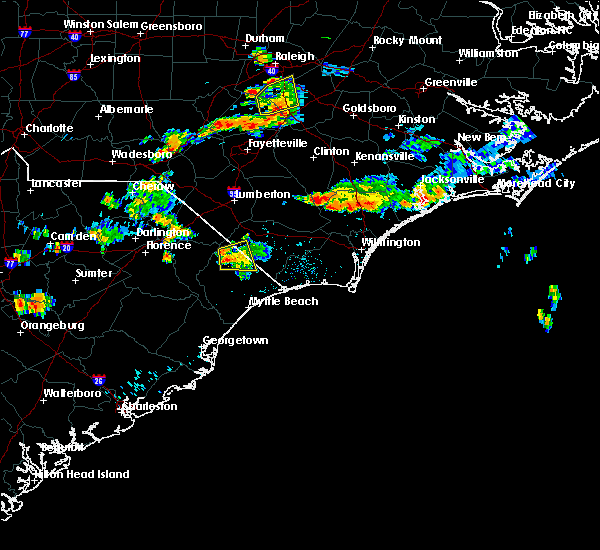Radar Image for Severe Thunderstorms near Loris, SC at 7/28/2018 8:00 PM EDT