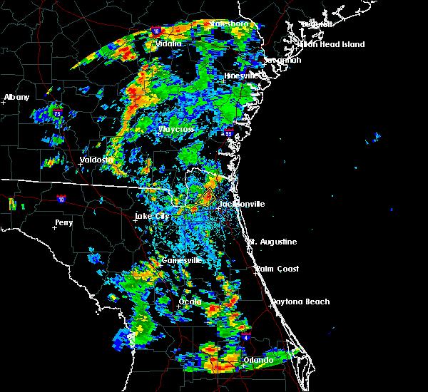 Radar Image for Severe Thunderstorms near Jacksonville, FL at 7/29/2018 4:11 PM EDT