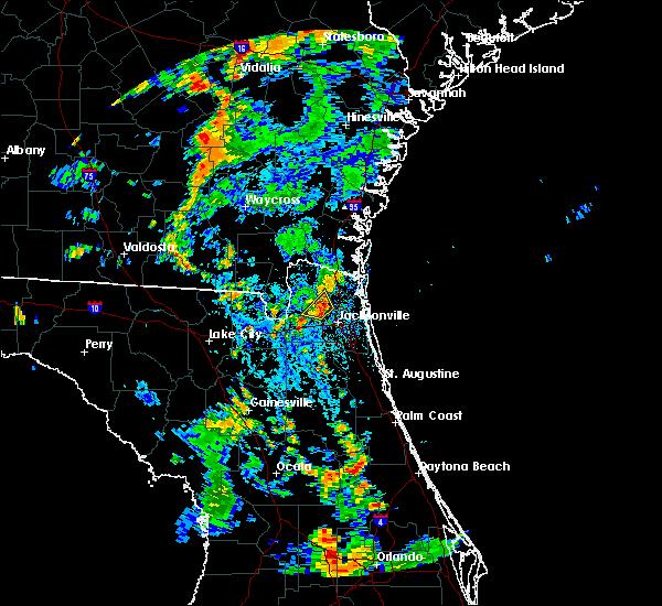Radar Image for Severe Thunderstorms near Jacksonville, FL at 7/29/2018 4:17 PM EDT