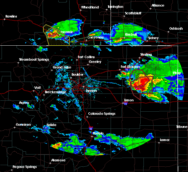 Radar Image for Severe Thunderstorms near Akron, CO at 7/29/2018 5:40 PM MDT