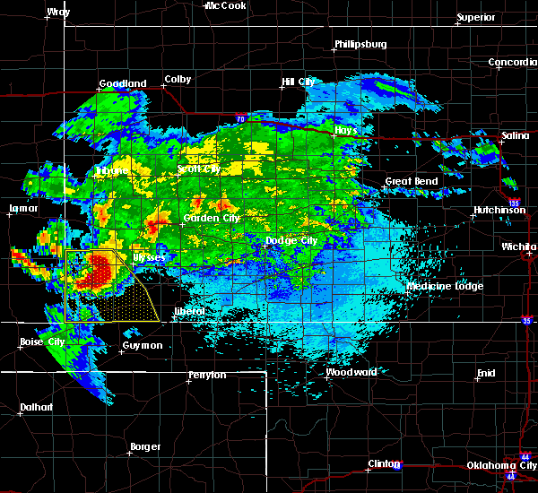 Radar Image for Severe Thunderstorms near Richfield, KS at 7/29/2018 10:15 PM CDT