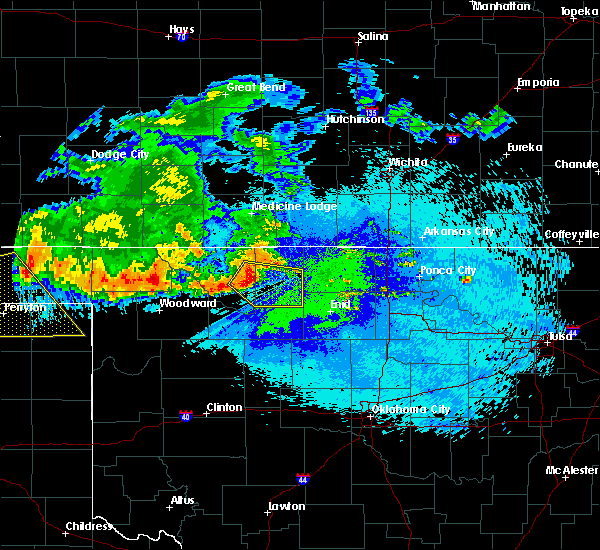 Radar Image for Severe Thunderstorms near Jet, OK at 7/30/2018 12:03 AM CDT