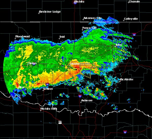 Radar Image for Severe Thunderstorms near Prague, OK at 7/30/2018 3:47 AM CDT