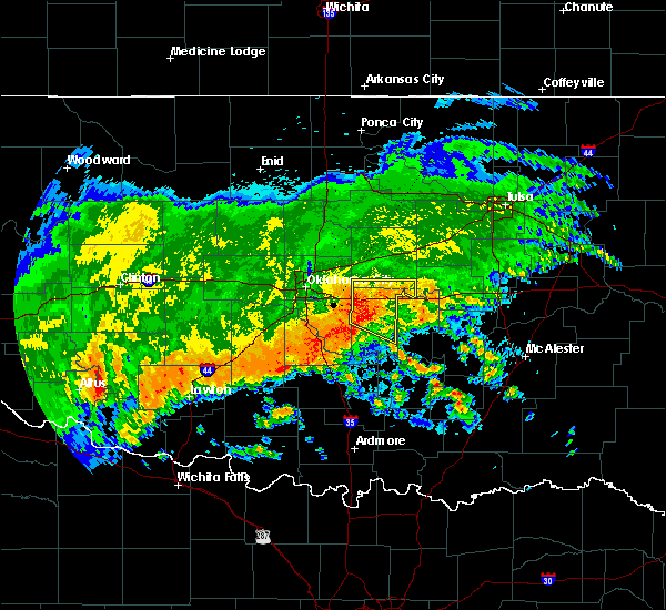 Radar Image for Severe Thunderstorms near Prague, OK at 7/30/2018 4:06 AM CDT