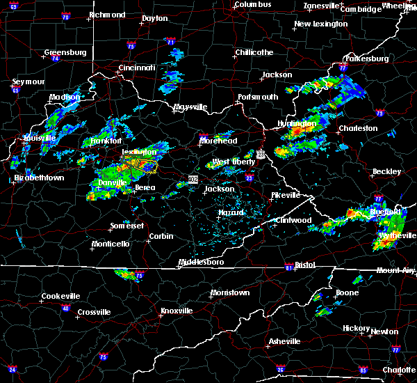 Radar Image for Severe Thunderstorms near Winchester, KY at 7/30/2018 6:29 PM EDT