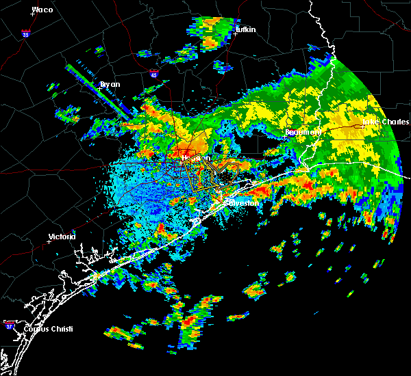 Radar Image for Severe Thunderstorms near San Leon, TX at 7/31/2018 12:25 PM CDT