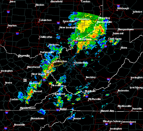 Radar Image for Severe Thunderstorms near Huntington, WV at 7/31/2018 1:43 PM EDT