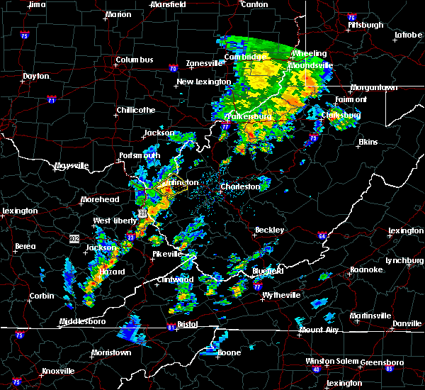 Radar Image for Severe Thunderstorms near Huntington, WV at 7/31/2018 2:01 PM EDT