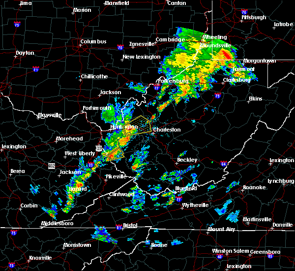 Radar Image for Severe Thunderstorms near Crum, WV at 7/31/2018 2:25 PM EDT