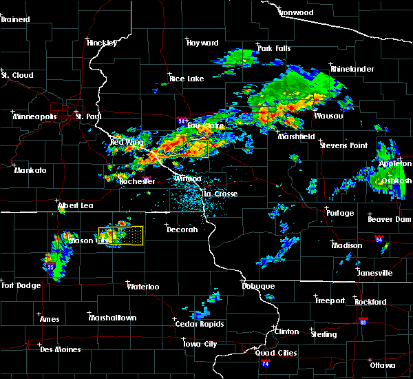 Radar Image for Severe Thunderstorms near Independence, WI at 8/1/2018 5:44 PM CDT