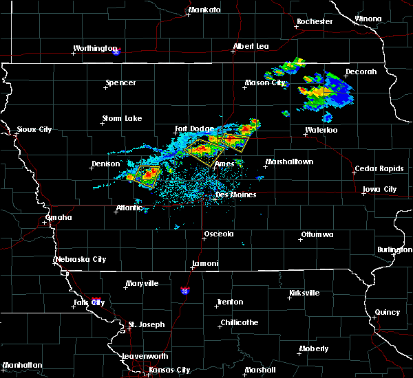 Radar Image for Severe Thunderstorms near Hubbard, IA at 8/1/2018 7:04 PM CDT