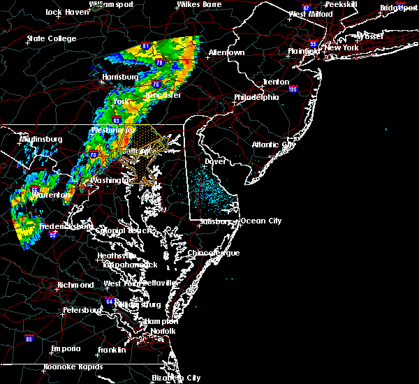 Radar Image for Severe Thunderstorms near Riverside, MD at 8/1/2018 10:24 PM EDT