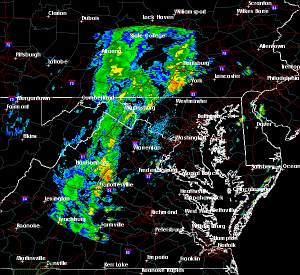 Radar Image for Severe Thunderstorms near Madison, VA at 8/2/2018 11:48 AM EDT