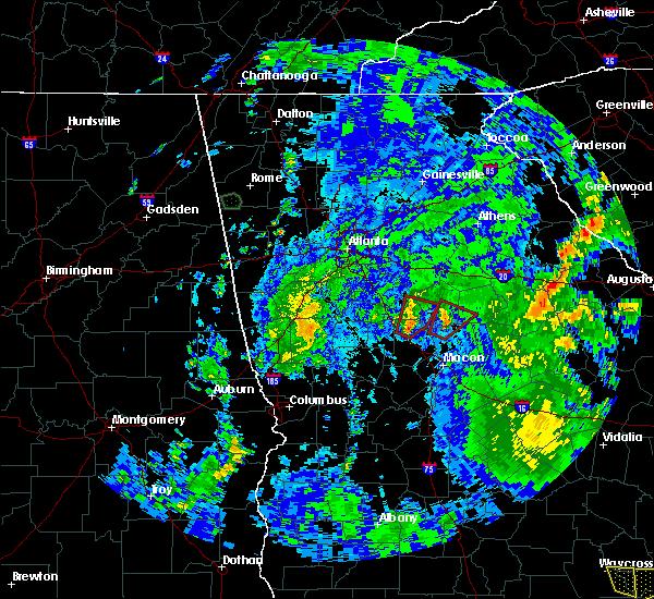 Radar Image for Severe Thunderstorms near Jackson, GA at 8/2/2018 4:12 PM EDT