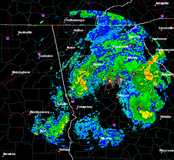 Radar Image for Severe Thunderstorms near Jackson, GA at 8/2/2018 4:44 PM EDT