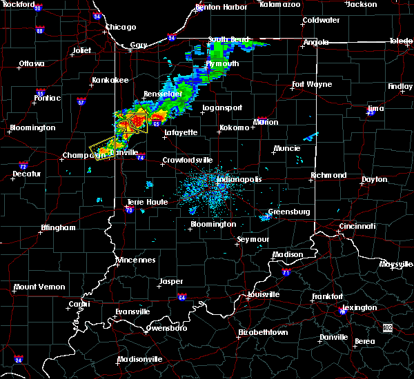 Radar Image for Severe Thunderstorms near Otterbein, IN at 8/2/2018 8:42 PM EDT