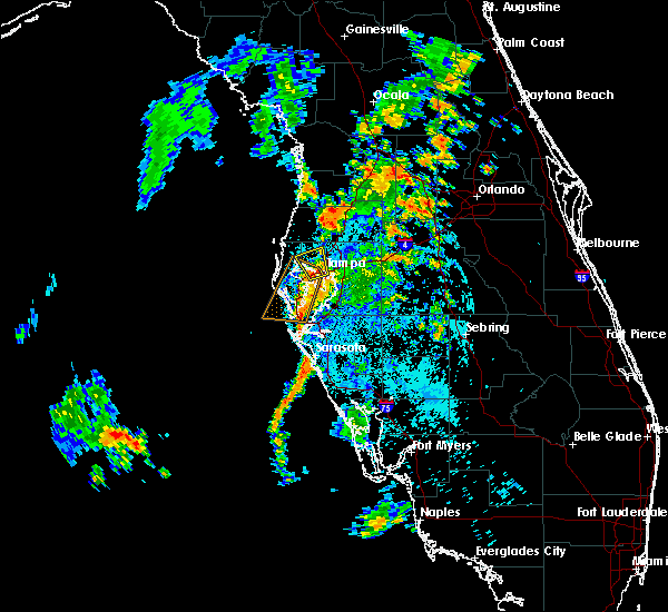 Radar Image for Severe Thunderstorms near Tampa, FL at 8/2/2018 10:31 PM EDT