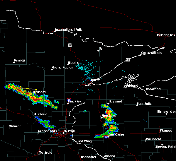 Radar Image for Severe Thunderstorms near Pequot Lakes, MN at 8/3/2018 11:36 AM CDT