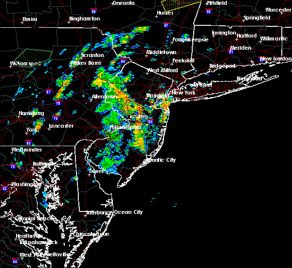 Radar Image for Severe Thunderstorms near Heathcote, NJ at 8/3/2018 1:55 PM EDT