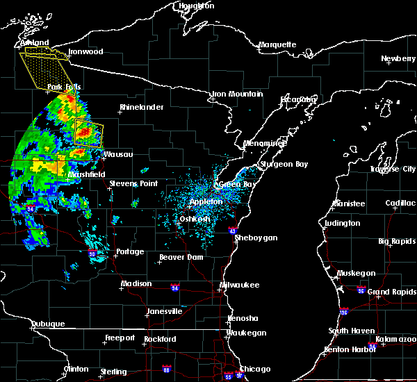 Radar Image for Severe Thunderstorms near Merrill, WI at 8/3/2018 2:04 PM CDT