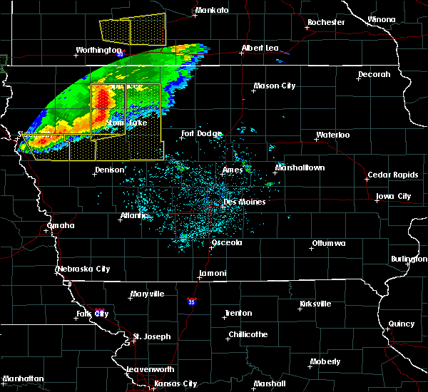 Radar Image for Severe Thunderstorms near Rodman, IA at 8/5/2018 3:56 AM CDT