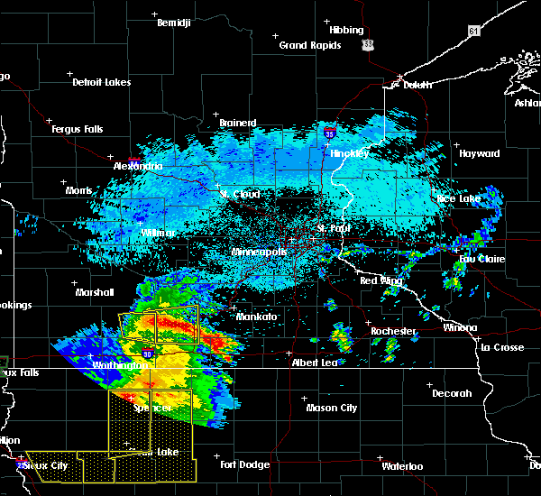 Radar Image for Severe Thunderstorms near Ormsby, MN at 8/5/2018 4:02 AM CDT