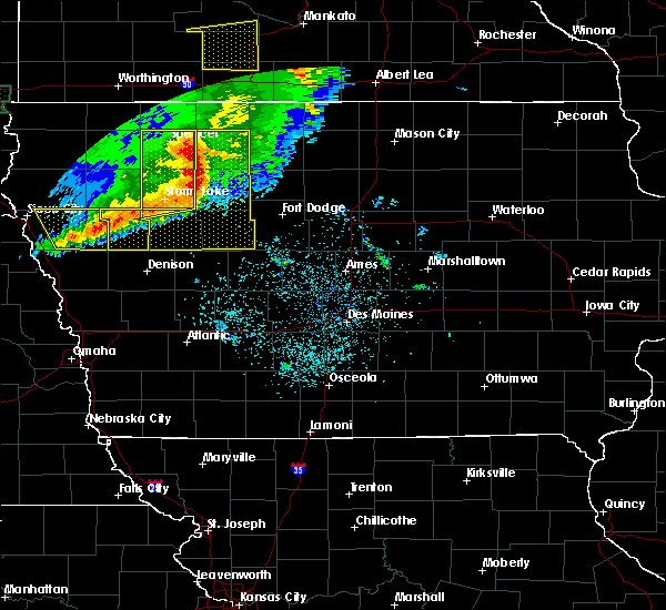Radar Image for Severe Thunderstorms near Ayrshire, IA at 8/5/2018 4:11 AM CDT