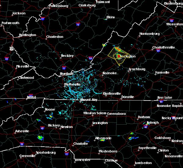 Radar Image for Severe Thunderstorms near Goshen, VA at 8/5/2018 4:45 PM EDT