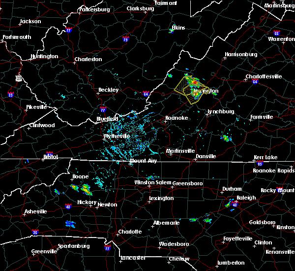 Radar Image for Severe Thunderstorms near Lexington, VA at 8/5/2018 5:02 PM EDT