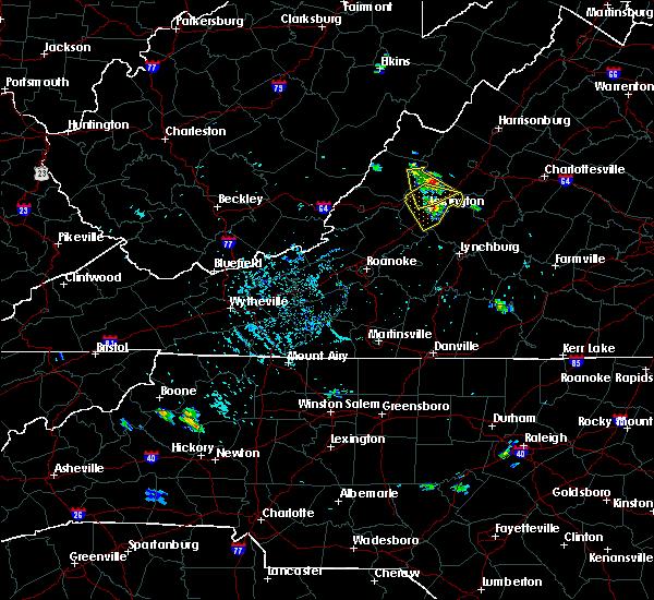 Radar Image for Severe Thunderstorms near Goshen, VA at 8/5/2018 5:05 PM EDT