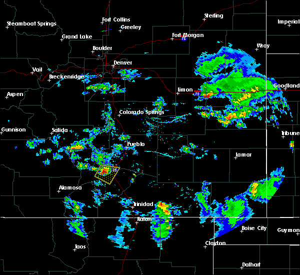 Radar Image for Severe Thunderstorms near Colorado City, CO at 8/5/2018 5:41 PM MDT