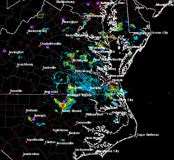 Radar Image for Severe Thunderstorms near Chesapeake, VA at 8/6/2018 2:45 PM EDT