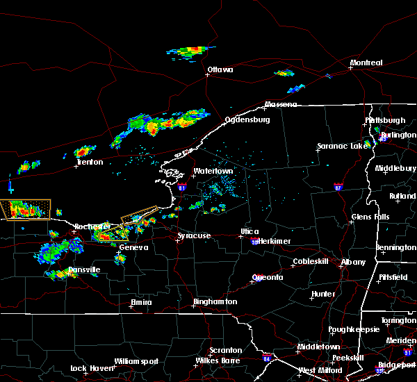 Radar Image for Severe Thunderstorms near Clyde, NY at 8/6/2018 3:50 PM EDT
