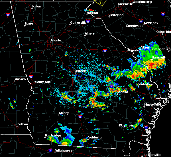 Radar Image for Severe Thunderstorms near Rhine, GA at 8/6/2018 4:24 PM EDT